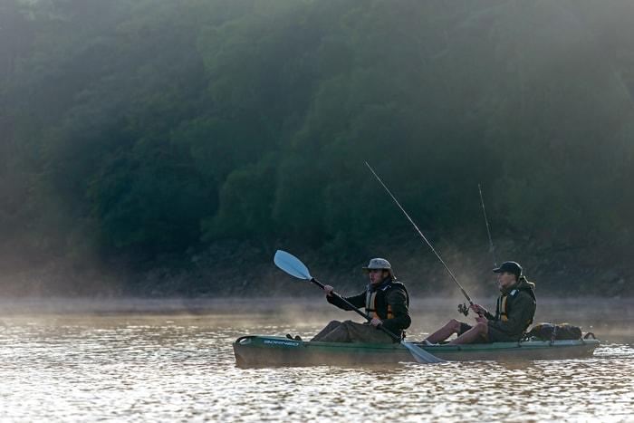 two men kayaking, кајакарење